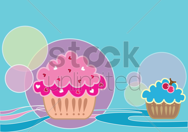 cupcakes vector graphic