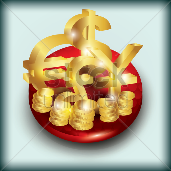 currency icon vector graphic