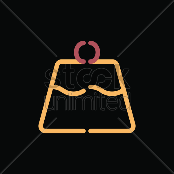 custard pudding cake vector graphic