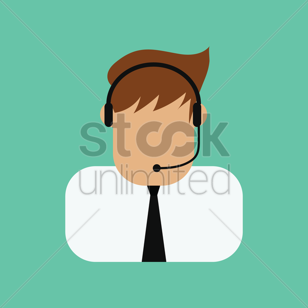 customer care executive vector graphic