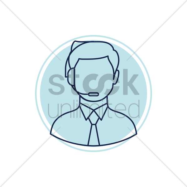 customer service executive vector graphic