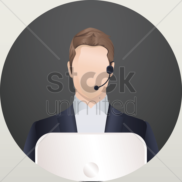 Free customer service executive vector graphic