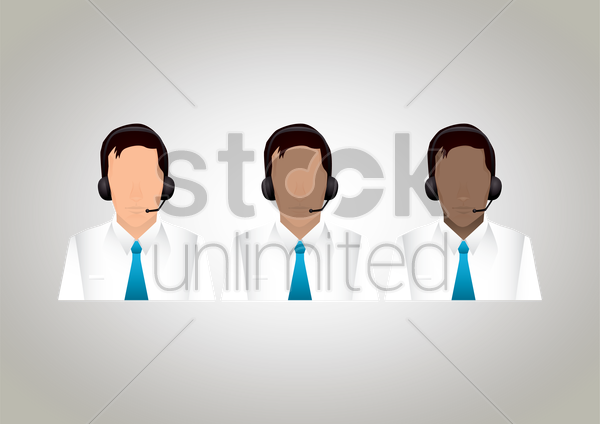 customer service executives vector graphic