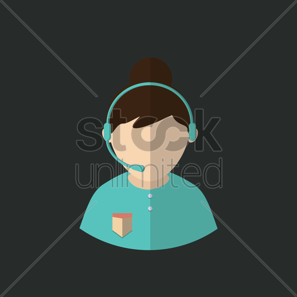 customer service vector graphic