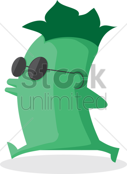 Free cute monster wearing goggles vector graphic