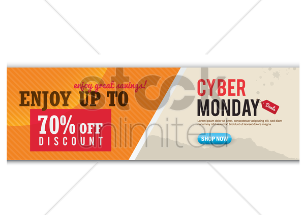 cyber monday banner vector graphic