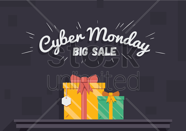 cyber monday big sale wallpaper vector graphic