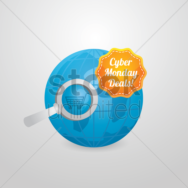 cyber monday deals vector graphic