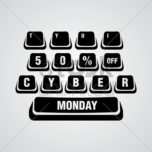 cyber monday design element vector graphic