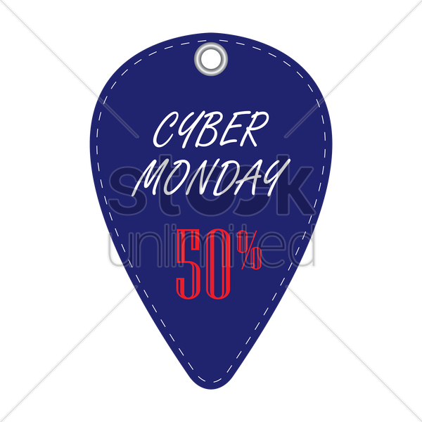 cyber monday discount tag vector graphic