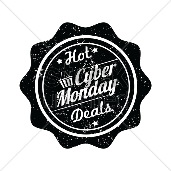 cyber monday hot deal label vector graphic