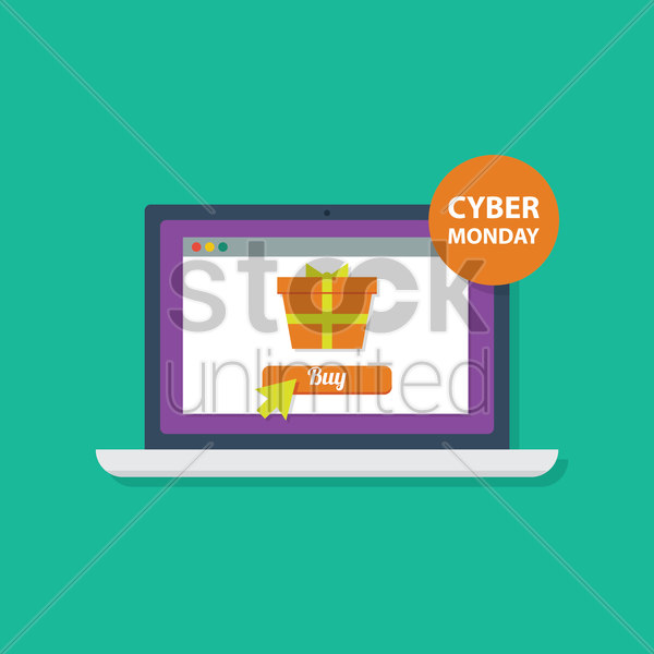cyber monday icon vector graphic