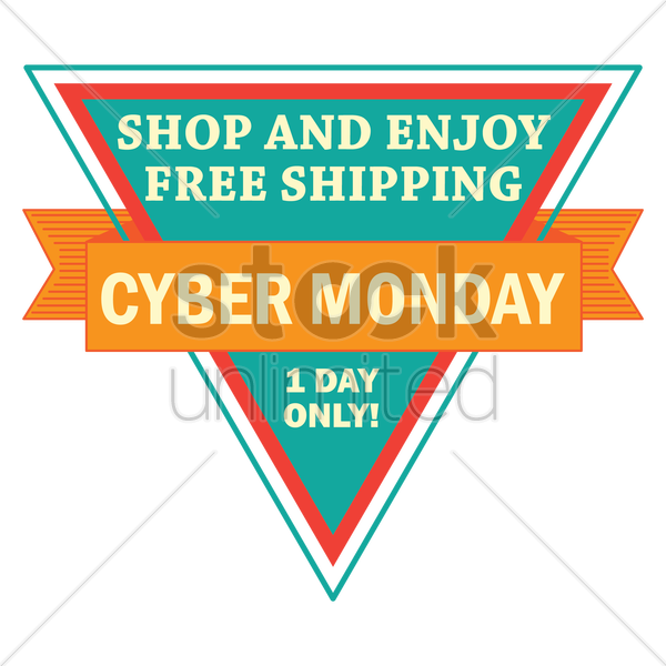 cyber monday label vector graphic