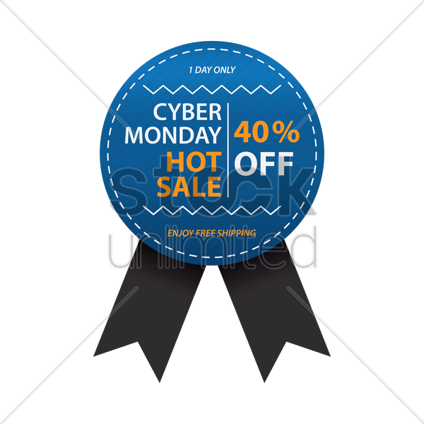 cyber monday sale badge vector graphic