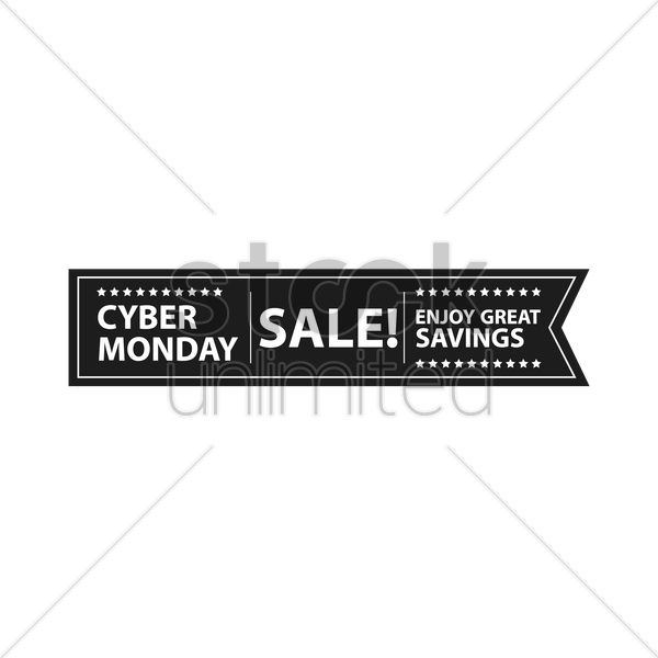 cyber monday sale banner vector graphic