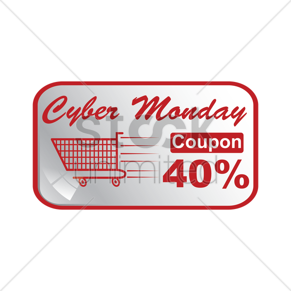 cyber monday sale coupon vector graphic