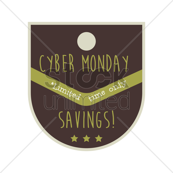 cyber monday sale label vector graphic