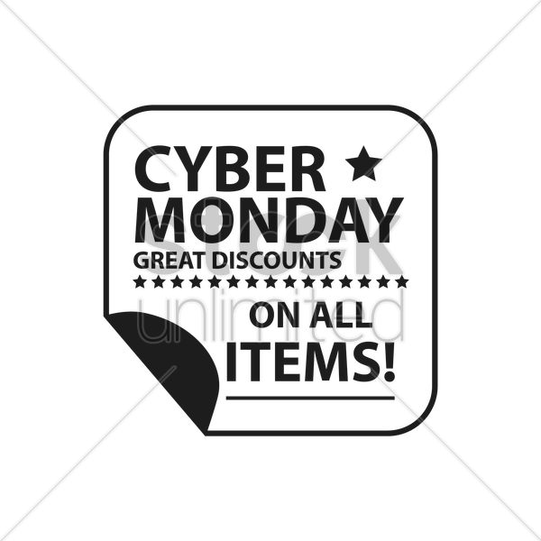 cyber monday sale sticker vector graphic
