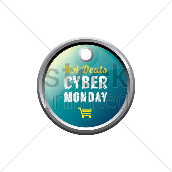 Free cyber monday sale tag vector graphic