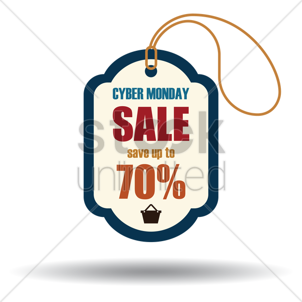 cyber monday sale tag vector graphic