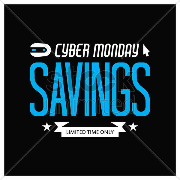 cyber monday sale wallpaper vector graphic