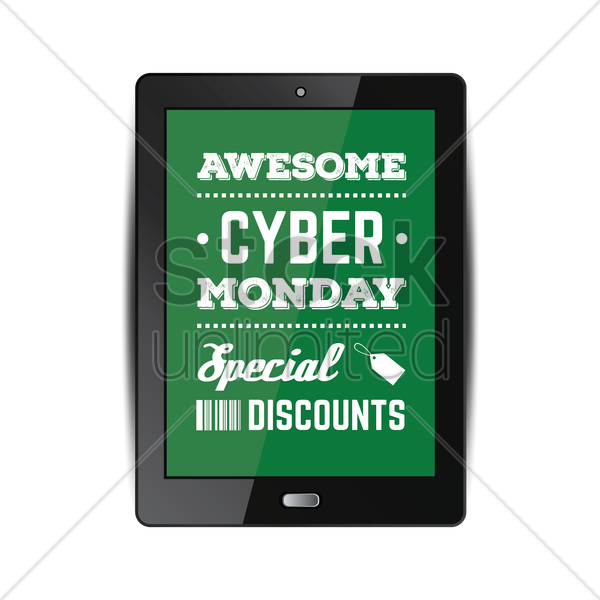 cyber monday sale vector graphic