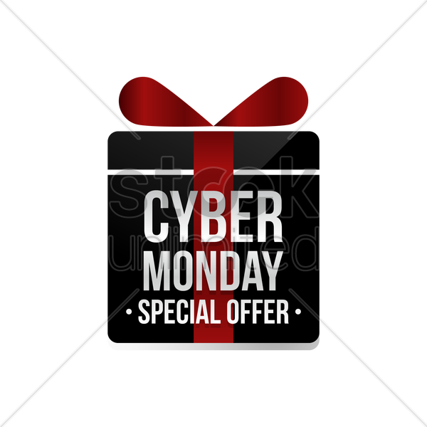cyber monday special offer label vector graphic