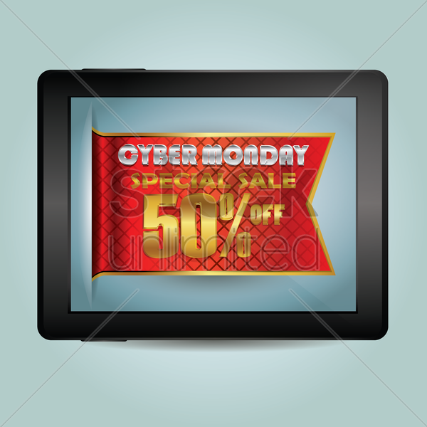 cyber monday special sale vector graphic