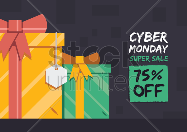 cyber monday super sale wallpaper vector graphic