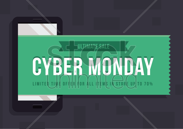 cyber monday ultimate sale wallpaper vector graphic