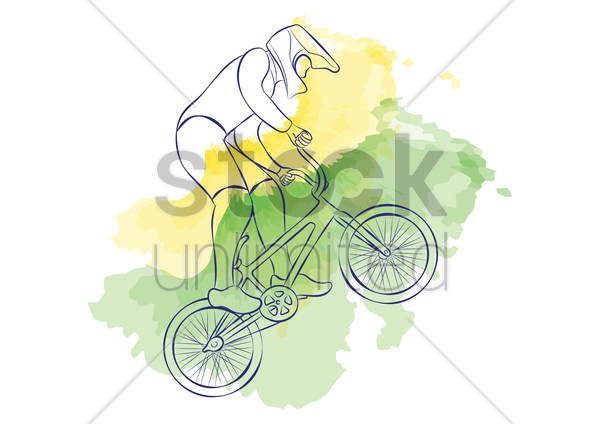 cycling bmx vector graphic