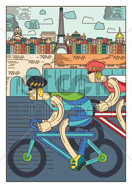cycling festival poster vector graphic