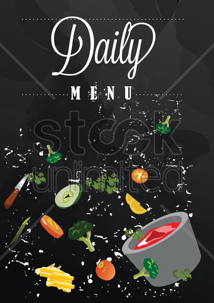 daily menu poster vector graphic