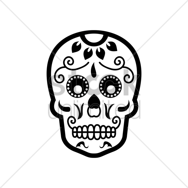 day of the dead skull vector graphic