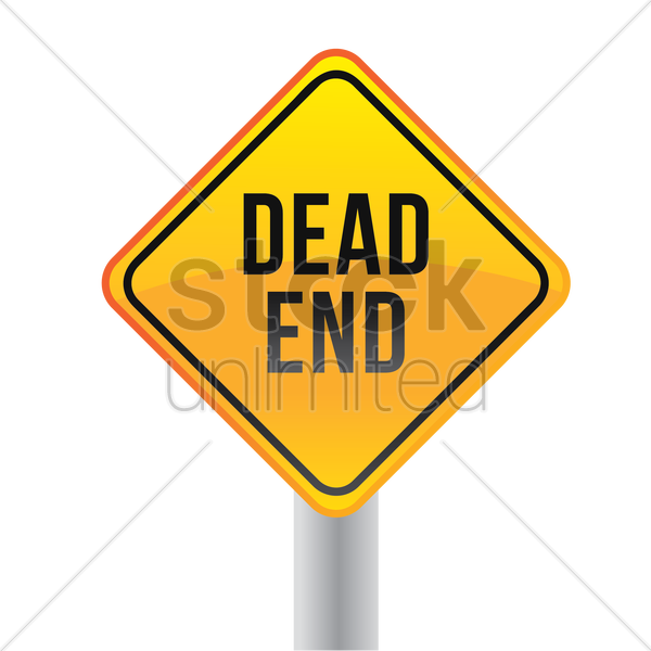 dead end road sign vector graphic