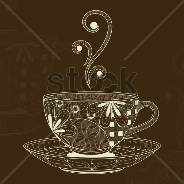 decorative cup vector graphic