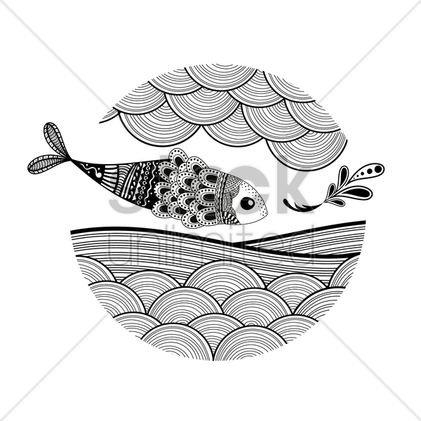 decorative fish design vector graphic