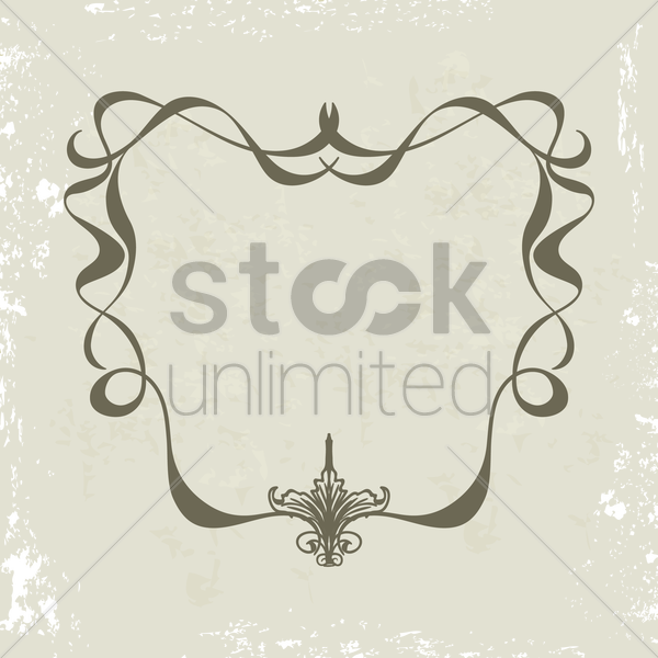 decorative frame vector graphic