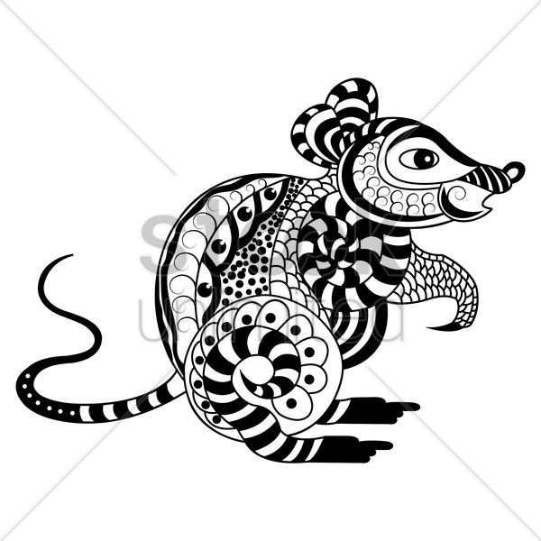 decorative rat design vector graphic