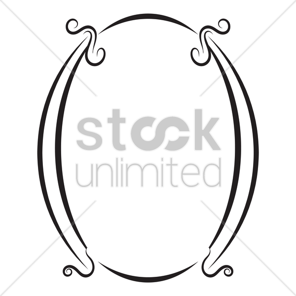 decorative retro frame vector graphic