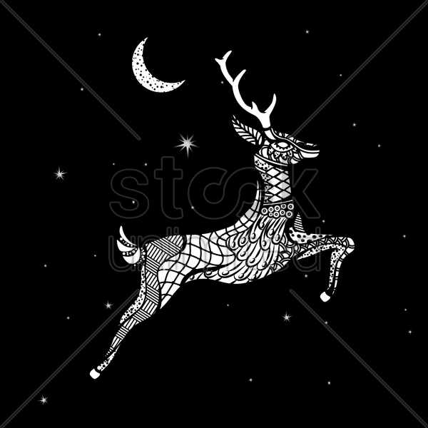 deer vector graphic