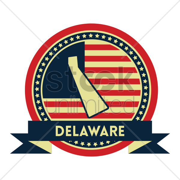 Free delaware map label vector graphic