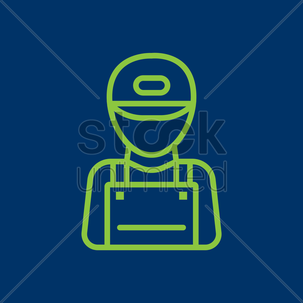 delivery boy vector graphic