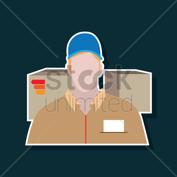 delivery man vector graphic