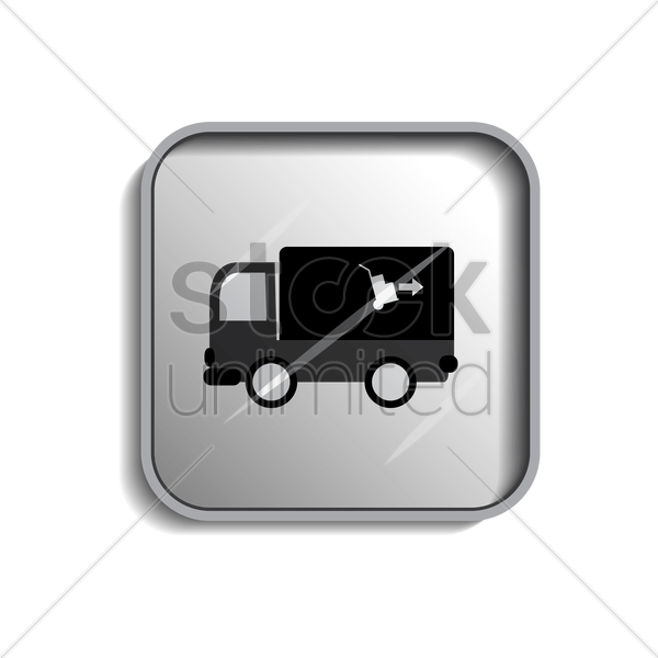 delivery truck icon vector graphic