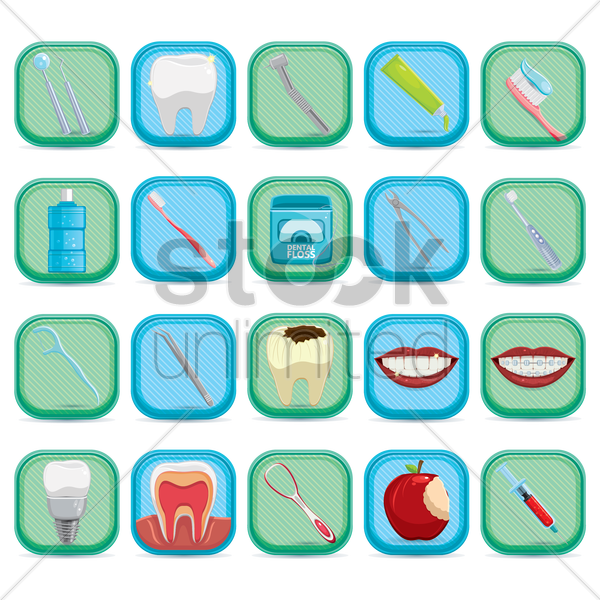 dental care collection vector graphic