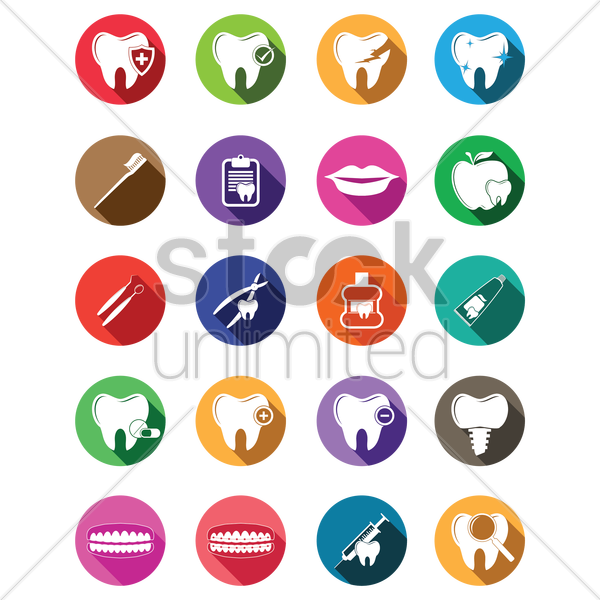 dental icon vector graphic