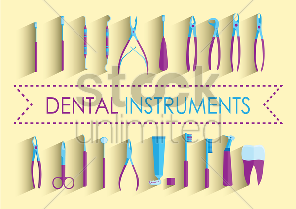 dental instruments vector graphic