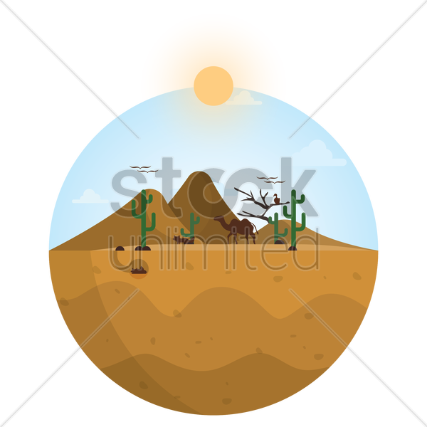 desert icon vector graphic