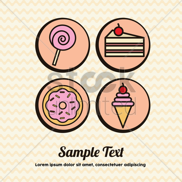 desert menu vector graphic
